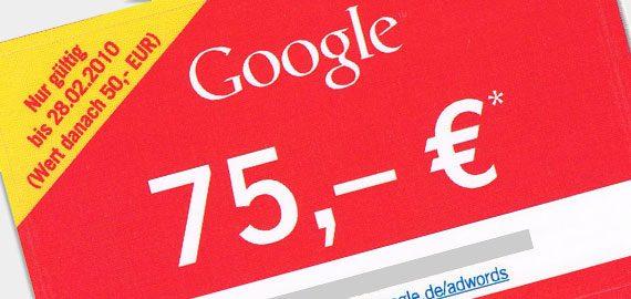 google gutschein kostenlos