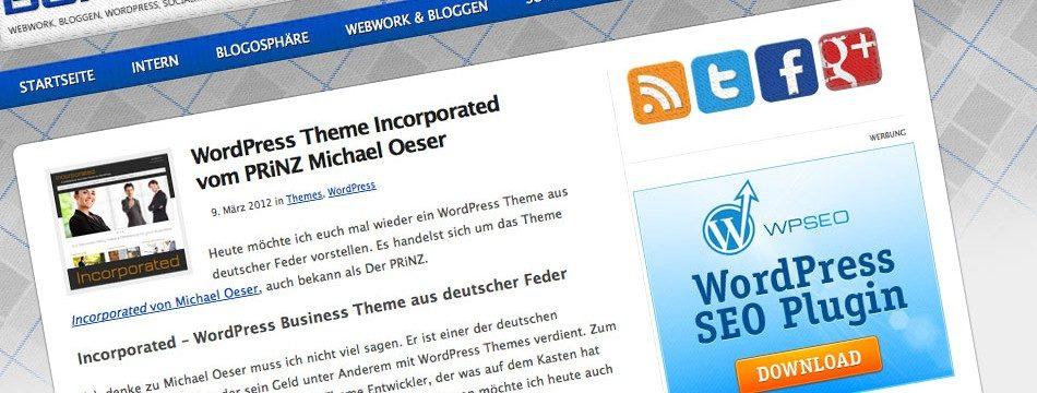 DER PRiNZ Bohncore Verlosung Incorporated WordPress Theme